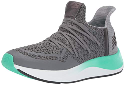 New Balance Men's Cypher Run V2 Shoe, Castlerock/Black/neon Emerald, 11.5 D US