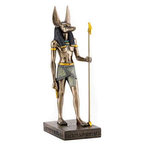 Top Collection Egyptian Anubis Statue- Ruler of The Underworld Dog Sculpture in Premium Cold Cast Bronze- 15.5-Inch Collectible Ancient Egypt Figurine