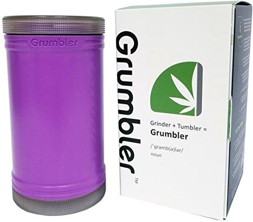 MyGrumbler.com Grumbler - Medical Herb and Accessory Storage Case w/Detachable Grinder, Pre-Roll Protector, Grinds Funnel. Smell Proof, Food Safe, Child Resistant (Granddaddy ()