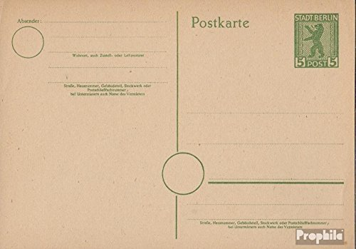 Soviet Zone (Allied.cast.) P3b Official Postcard 1945 Berlin Bear (documents philatelic covers for collectors)