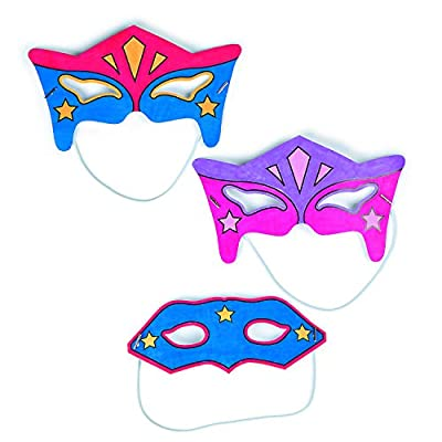 Color Your Own Superhero Mask Craft Kit - Crafts for Kids and Fun Home Activities: Toys & Games