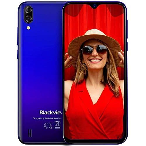 "Blackview A60 Teléfono Móvil 2GB+16GB (128GB SD), Pantalla 6.1"" (19.2:9) Water-Drop Screen Movil Barato, 13MP+2MP+5MP, 4080mAh Batería, Android 10 Smartphone Libre Dual SIM, GPS/WiFi/Hotspot-Azul a buen precio"