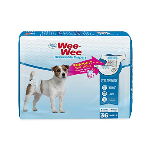 Wee-Wee Disposable Dog Diapers, 36 Count Small