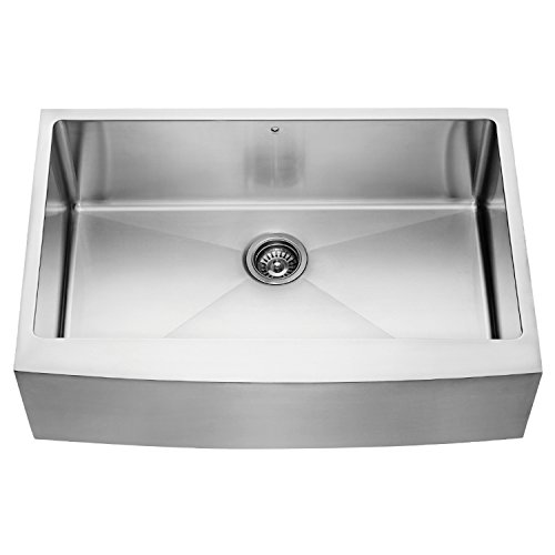 Dispenser Traditional Soap Series - VIGO 33 inch Farmhouse Apron Single Bowl 16 Gauge Stainless Steel Kitchen Sink