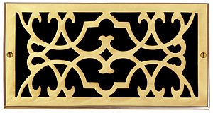 Brass Elegans 120G PLB Solid Cast Brass Victorian 6-Inch by 10-Inch Air Return, Polished Brass Finish Model