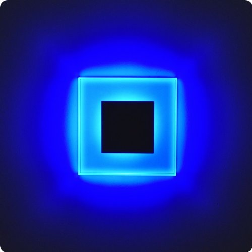 Led design blau sun led einbauleuchten 75x75mm glas alu hochwertig ...