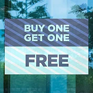 5-Pack Stripes Blue Window Cling 30x20 Buy One Get One Free CGSignLab