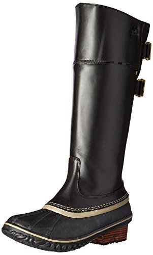 SOREL Women's Slimpack Riding Tall II Snow Boot, Black, Kettle, 8.5 B US by SOREL