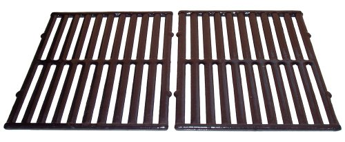Porcelain Coated Cast Iron Rectangular Cooking Grid Set for Vermont Castings, ProChef, Ellipse and Kenmore Grills ()