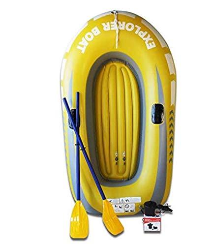 YWJ Canot pneumatique pour Radeau - Facile à gonfler et à dégonfler, Coutures soudées à la Chaleur, PVC de qualité épaisse - Parfait pour la baignade en été