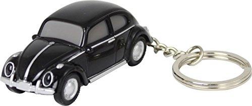 Volkswagen VW Classic Beetle Keychain Keylight Flashlight - Black (Keylight Keychain)