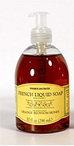 Trader Jacques - French Liquid Orange Blossom Honey - Hand and Body Soap 10 FL (Orange French Soap)
