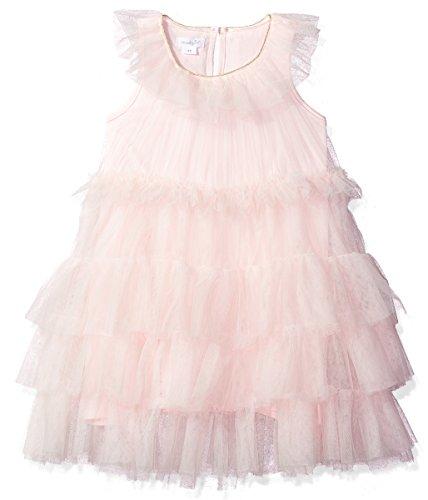 Mud Pie Baby Girls Mesh Tiered Sleeveless Dress, Pink, - Tiered Dress Mesh