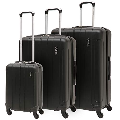 EONO Essentials ABS Hard Shell Travel Trolley Suitcase with 4 Wheel