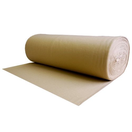 100% Wool Felt Light Brown 1.2 MM Thick X 72 Inches Wide X 1 Yard Long