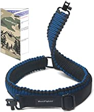 HuntFighter Rifle Sling with Swivels, 550 Paracord 2-Point Gun Sling with Quick Adjustable Length Strap for Ou