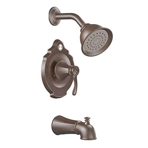 (Moen T2503EPORB-2510 Vestige Posi-Temp Tub and Shower Trim Kit with Lever Handle and Valve, Oil Rubbed Bronze )