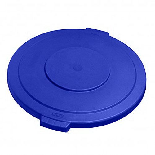 UltraSource Round Waste Container Lid, 32 gal, Blue
