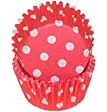 Red Polka Dot Baking Cups, Mini 100-Count