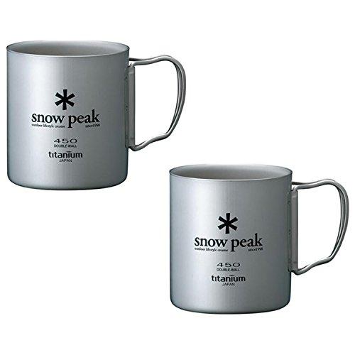 Snow Peak Titanium Double Wall Cup 450 - 2 (Snow Peak Titanium Folding Cup)