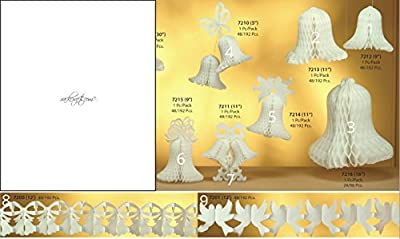 rackcrafts.com Honey Comb / Garland Paper Decoration Bells Doves Wedding Anniversary Bridal