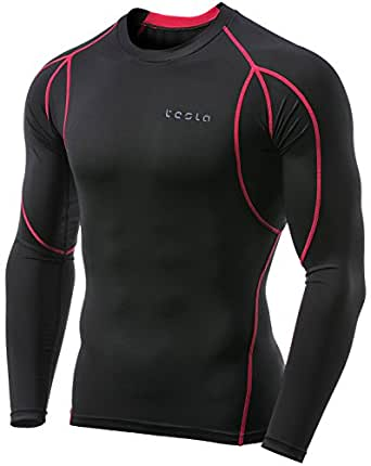 Tesla Men's Long Sleeve Round Neck T-Shirt Baselayer Cool Dry Compression Top MUD11-KKR