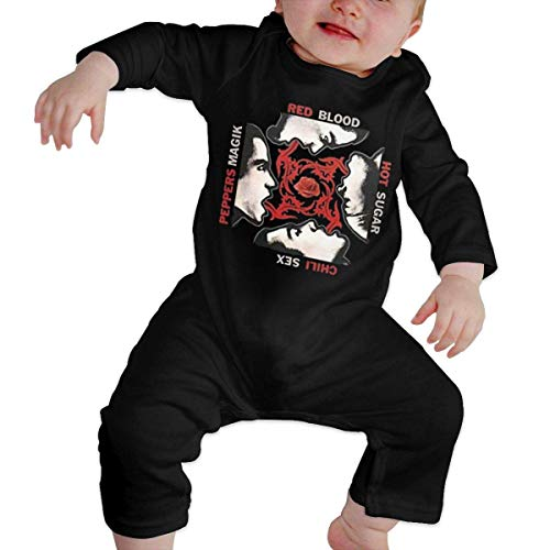 ZFSM Infant Long Sleeve Romper Red-Hot-Chili-Peppers Newborn Babys