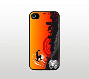 Skateboarder Snap-On Case for Apple iPhone 5/5s - Hard Plastic - Black - Cool Custom Cover - Skateboarding