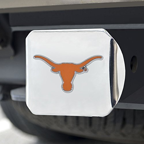 (FANMATS NCAA Texas Longhorns University of Texascolor Hitch - Chrome, Team Color, One Size)