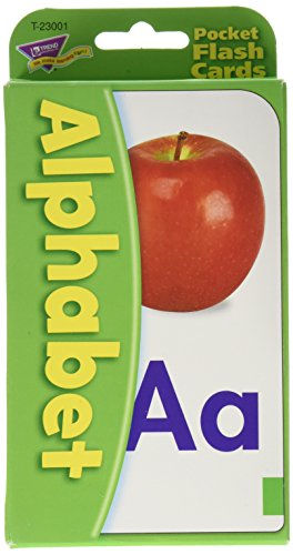 Trend Enterprises Alphabet Pocket Flash Cards