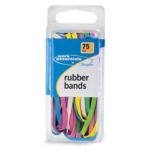 Swingline Work Essentials Rubber Bands, 75 Count, Assorted Colors, (S7071750) (Rubber Bands Ball)