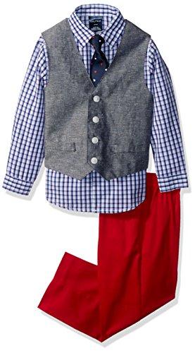 - Nautica Boys' Little 4-Piece Formal Dresswear Vest Set, Peacoat Denim, 5