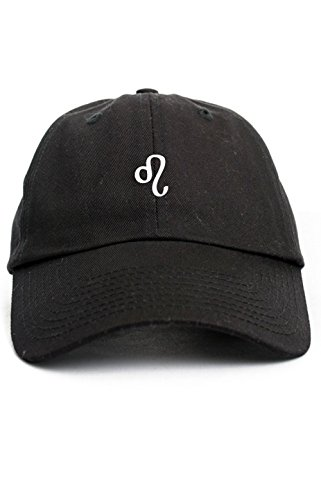 Leo Zodiac Sign Symbol Unstructured Baseball Dad Hat New - Black