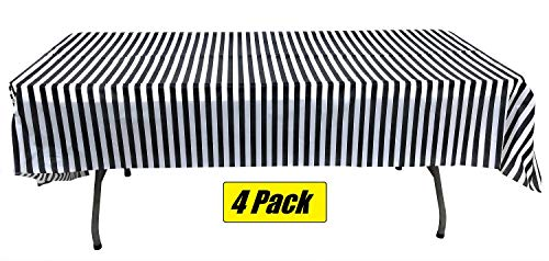 Black And White Decorations - Pack of 4 Plastic Black and