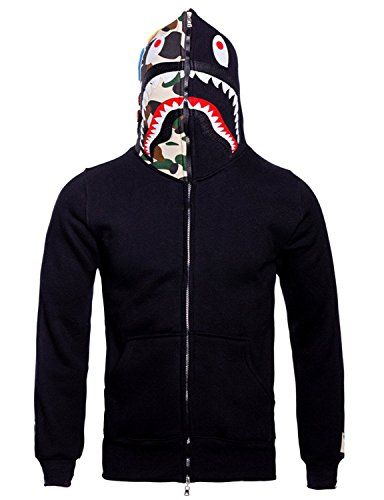 Christo Mens Hoodies Sweatshirt Fashion Outdoor Tracksuit Casual Hip Hop Funny Coat, Black02, XS