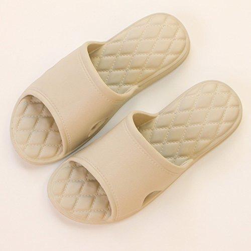 uomini la slittamento da bagno 41~42 stanza quattro pantofole e balneazione fankou donne pantofole kaki estate stagioni spesse anti fresco home 0IwF7q4