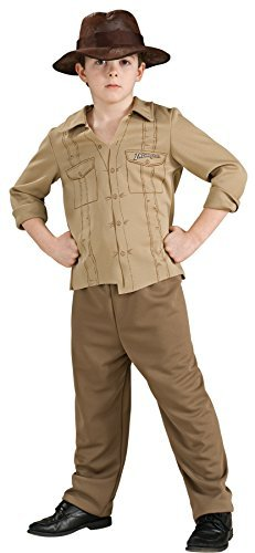 UHC Boy's Indiana Jones Outfit Kids Fancy Dress Halloween Costume, M (8-10)