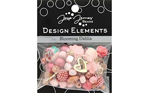 Jesse James Buttons 10148 Beads Elements Blooming Dahlia