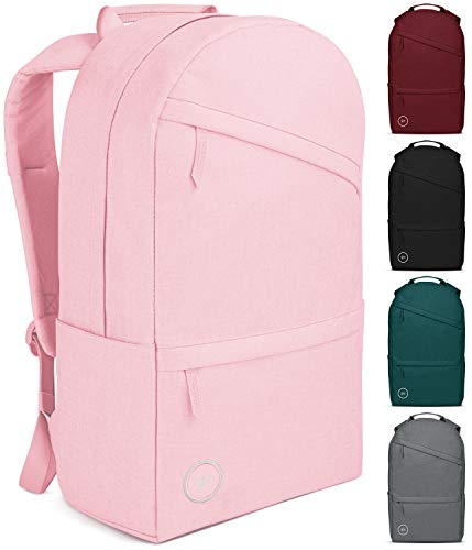 Simple Modern Legacy Backpack with Laptop Compartment Sleeve – 25L Travel Bag for Men & Women College Work School – Legacy: Blush