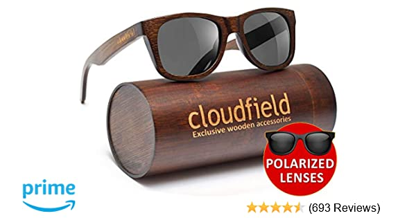172062c44f3 Amazon.com  Wood Sunglasses Polarized for Men and Women - Bamboo Wooden  sunglasses  Sports   Outdoors