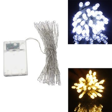 Lights & Lighting - Aa Battery Mini 10 Leds Cool/Warm White Christmas String Fairy Lights - Fairy Lights Battery Operated String Mini Costumes Powered - 1PCs (Arrangements Sconce Floral Wall)