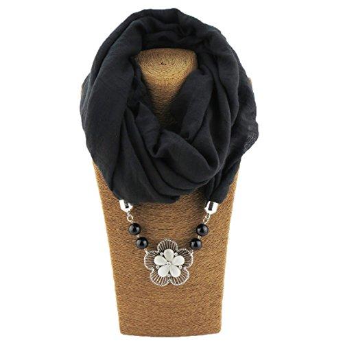 Scarfs Women Necklace Unique Pendant Jewelry Scarfs for Women ()