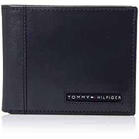 Tommy Hilfiger Men's Leather Cambridge Passcase Wallet with Removable Card Holder