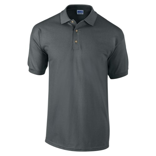 Gildan Mens Ultra Cotton Pique Polo Shirt (L) (Charcoal)