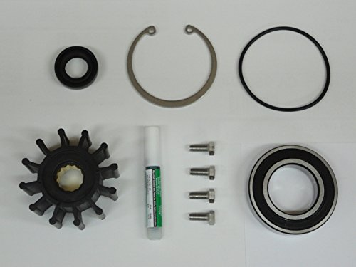(StayCoolPumps Premium Stainless 1999-2005 Volvo Penta Gas Sterndrive Raw Water Pump Repair Rebuild Kit Crankshaft Mounted)