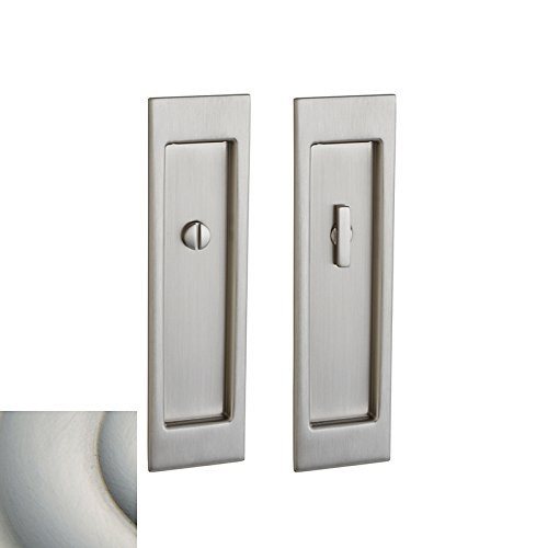Baldwin PD005.PASS Santa Monica Passage Pocket Door Set with Door Pull from the, Satin Nickel