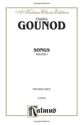 Songs, Vol 1 High Voice (French Language Edition) (Kalmus Edition)  (Tapa Blanda)