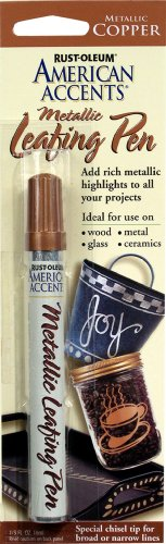 (Rust-Oleum 215192 American Accents Metallic Leafing Pen, Copper, 1/3-Ounce)