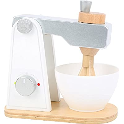Small Foot Wooden Toys Wooden Mixer with Movable Upper Part and Stirring Bowl for Play Kitchens Designed for Children Ages 3+: Toys & Games