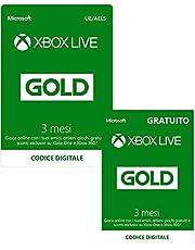 Abbonamento Xbox Live Gold - 3 Mesi + 3 Mesi Gratuito |Xbox Live - Codice download